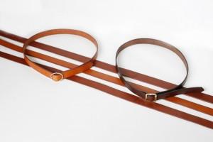 ceintures cuir brun